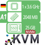 VPS / VDS сервер - тариф SSD-A1
