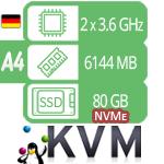 VPS / VDS сервер - тариф SSD-A4